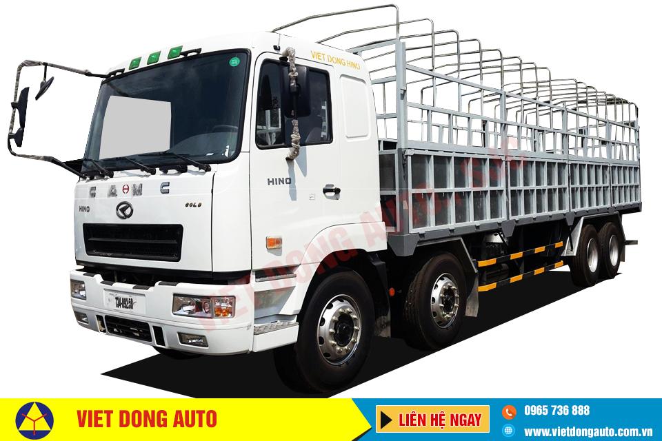 Xe tải thùng CAMC 4 chân (8×2) động cơ HINO 325HP 17,9 tấn
