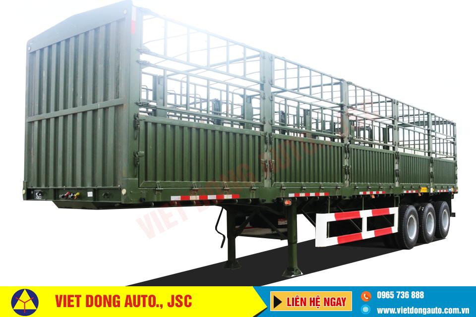 Sơ mi rơ mooc lồng CIMC tải trọng 30,93 tấn