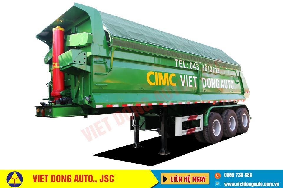 Sơmi rơ mooc ben CIMC tải trọng 27,40 tấn