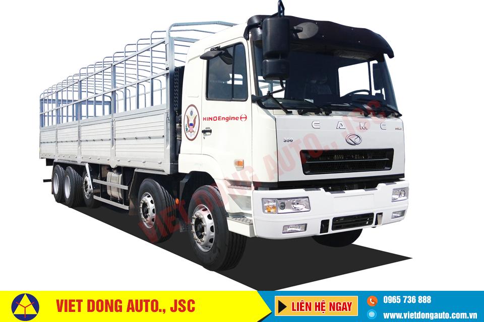 Xe tải thùng CAMC 5 chân máy 350HP động cơ HINO