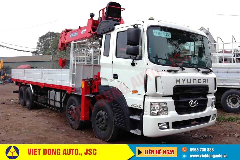 Xe tải thùng HYUNDAI HD 320 gắn cẩu CSS 300